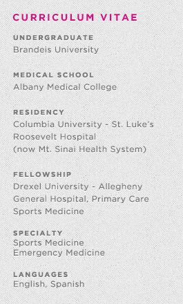 Mount Sinai Sports Medicine – Dr Alexis Colvin – Dr  James