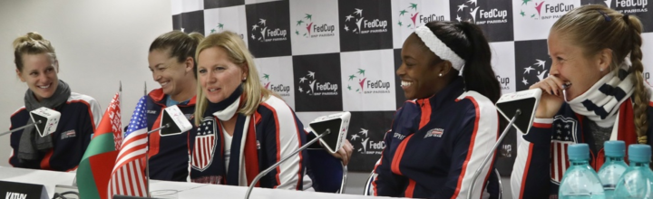 Dr. Alexis Colvin, USTA Chief Medical Officer – prepares for U.S. Fed Cup Team
